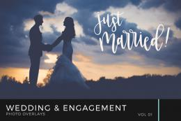 Wedding & Engagement Photo Overlays Volume 1