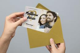 Modern Foil Wedding Invitation & Save the Date