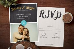Photo Collage Wedding Invitation & Save the Date