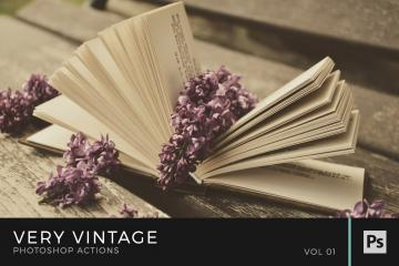 Very Vintage Photoshop Actions Volume 1