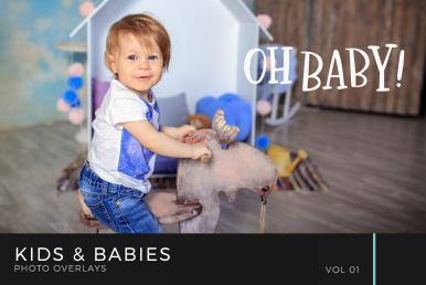 Kids & Babies Photo Overlays Volume 1