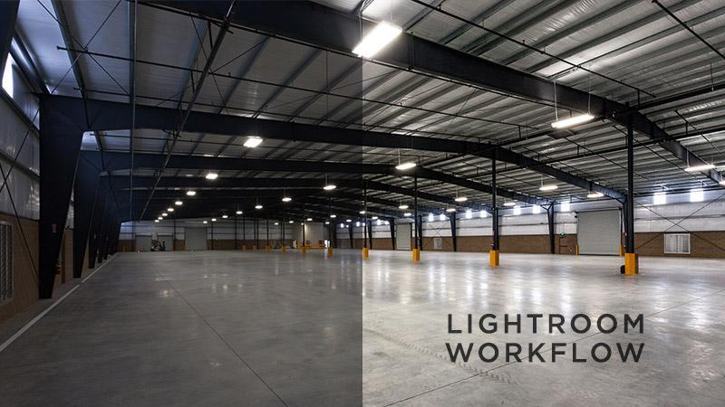 Empty Industrial Warehouse Lightroom Processing Workflow