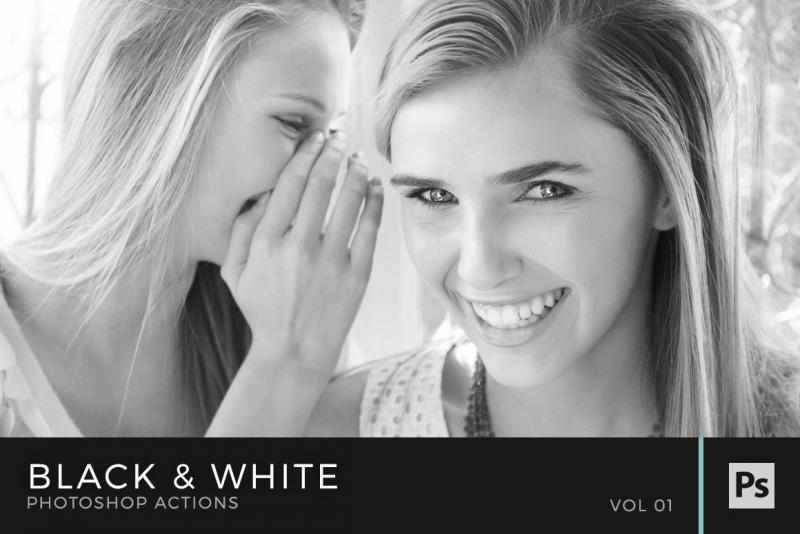 Black white photoshop actions volume 1